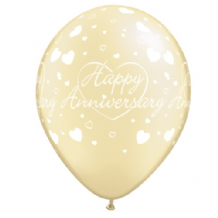 Wedding Anniversary Balloons (Ivory) - 11 Inch Balloons 25pcs